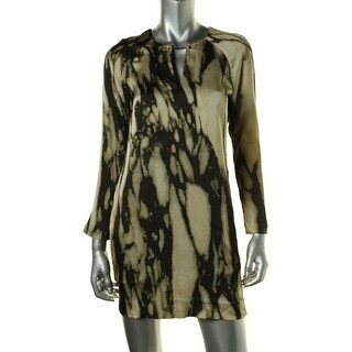 Rachel Rachel Roy Womens Charmeuse Printed Wear to Work Dress - M