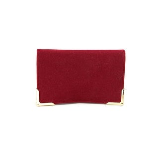 Shiraleah Olympia Women Canvas Clutch NWT - Red