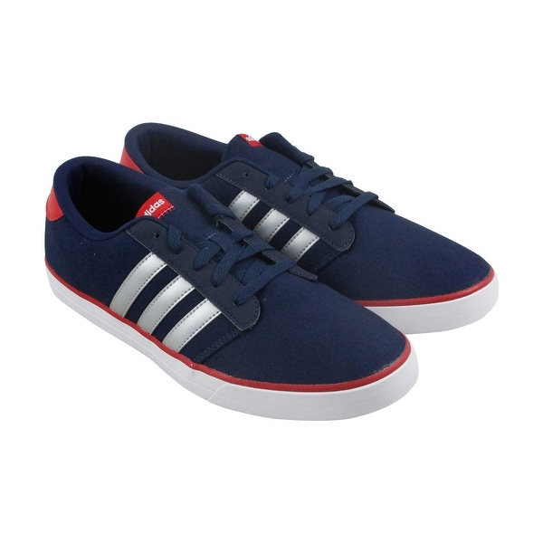 Adidas Vs Skate Mens Blue Textile Athletic Lace Up Running Shoes