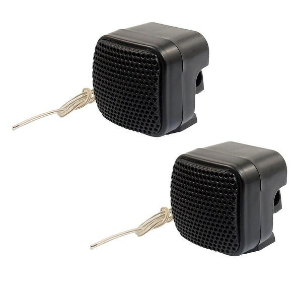 2 Pcs Black Car Audio System Dome Tweeter Speaker 500W
