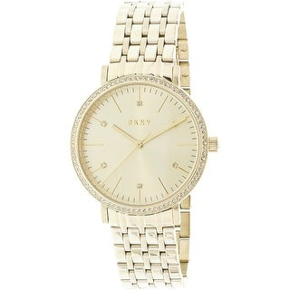 Dkny Women's Minetta NY2607 Gold Stainless-Steel Japanese Quartz Fashion Watch
