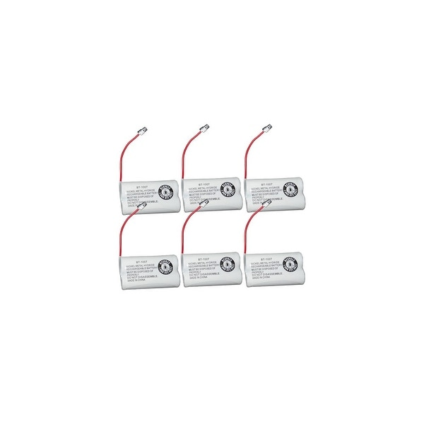 Replacement For Panasonic P506A Cordless Phone Battery (600mAh, 2.4V, Ni-MH) - 6 Pack
