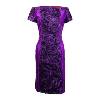 B Michael America Women's Off The Shoulder Soutached Dress - ORCHID|https://ak1.ostkcdn.com/images/products/is/images/direct/269b4864bc77af5cbd0ad6ef7e76fbcc8ffd9e06/B-Michael-America-Women%27s-Off-The-Shoulder-Soutached-Dress.jpg?impolicy=medium