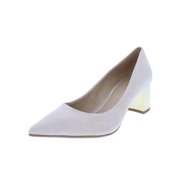 add27a509cca MICHAEL Michael Kors Womens Paloma Flex Mid Dress Heels Metallic Pointed Toe