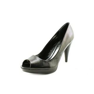 Style & Co Celine Open-Toe Leather Heels