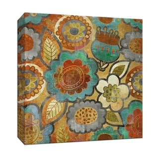 """PTM Images 9-146842  PTM Canvas Collection 12"""" x 12"""" - """"Global Deconstruct I"""" Giclee Flowers Art Print on Canvas"""