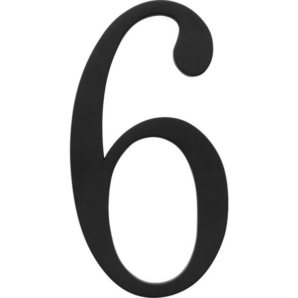 Atlas Homewares TRN6 Traditionalist Address Number 6 - Black - N/A
