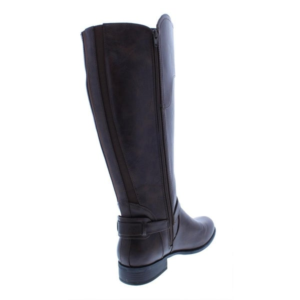 Riding Boots Wide Calf Faux Leather