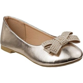 Laura Ashley Girls' LA80408M Ballerina Flat Gold PU