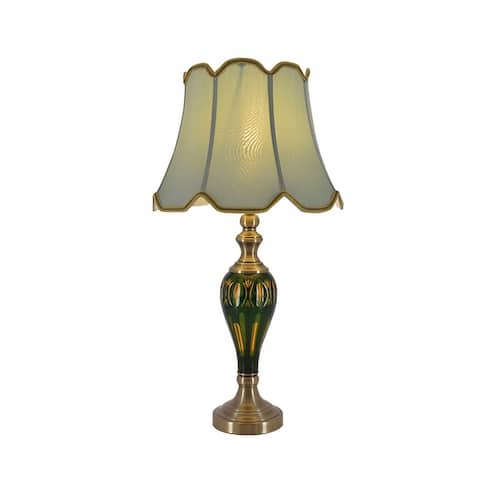 Petunia 28-inch Upscale Traditional Glass and Metal Table Lamp