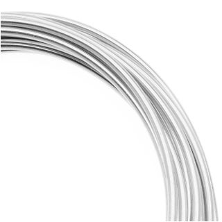 Artistic Wire, Silver Plated Craft Wire 14 Gauge Thick, 10 Foot Coil, Tarnish Resistant Silver