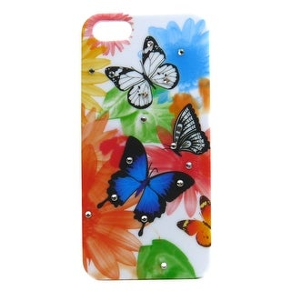 JAVOedge Gem Butterfly Back Cover for the Apple iPhone 5 - Purple