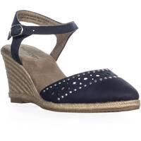 Rialto Constance Espadrilles Ankle Strap Sandals, Navy