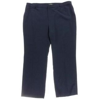 Lauren Ralph Lauren Womens Plus Dress Pants Wool Wide Leg