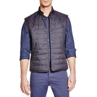 Bloomingdales Navy Blue Quilted Puffer Vest Small S Gillet