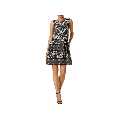 Vince Camuto Womens Casual Dress Floral Print Fit & Flare