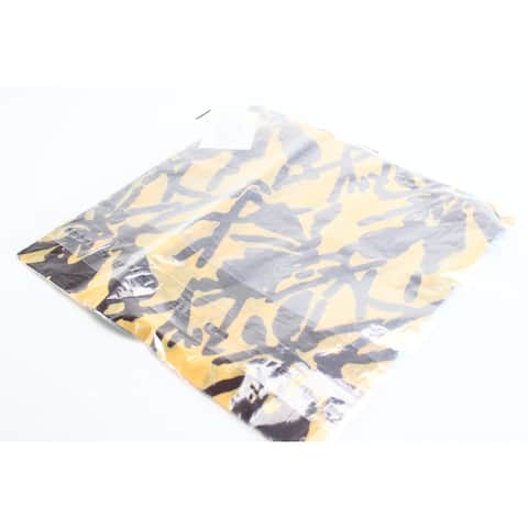 Eileen Fisher Women's Yellow Brown Floral Square Scarf Bandana accessory