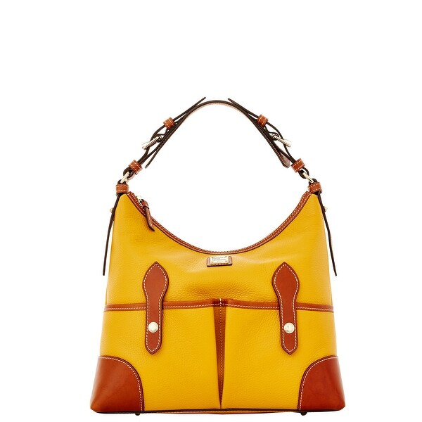 Dooney & Bourke Pebble Grain Medium Lucy (Introduced by Dooney & Bourke at $298 in Dec 2015) - Palomino