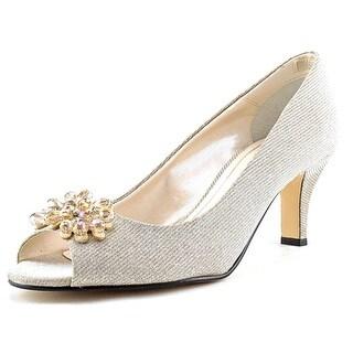 Caparros Marissa Women Peep-Toe Canvas Heels