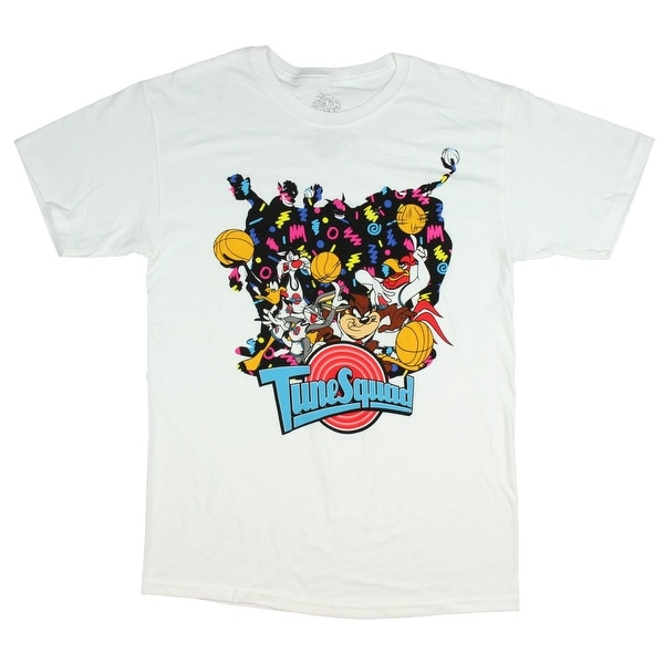 8ff408c7be1804 Shop Looney Tunes Space Jam Shirt Tune Squad Men s Movie Poster T-Shirt -  Free Shipping On Orders Over  45 - Overstock - 24303030