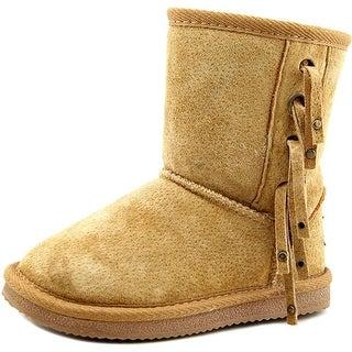 Lamo HooDoo Youth Round Toe Suede Tan Winter Boot