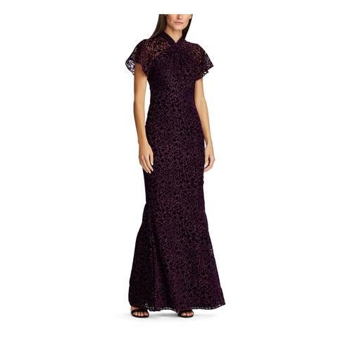RALPH LAUREN Purple Short Sleeve Maxi Dress 8