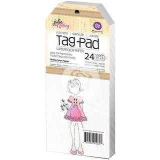 "Julie Nutting Mixed Media Tag Pad 24/Pkg-Watercolor 3.5""X8.5"""