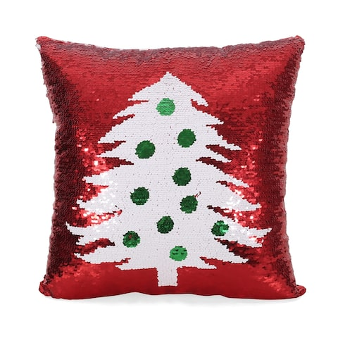 Texola Glam Sequin Christmas Throw Pillow by Christopher Knight Home