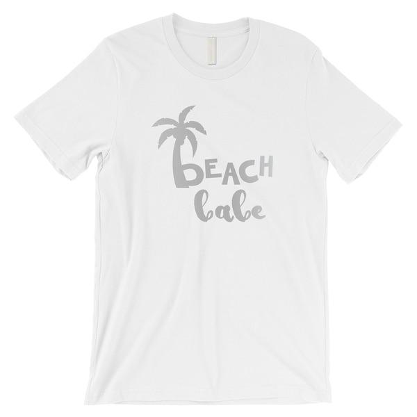 Mens Grey Geometric Palm Tree Graphic Tee Tshirt