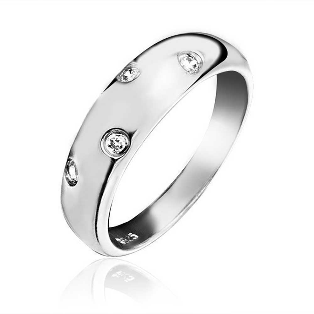 Bling Jewelry Double Etoile CZ Band Stelring Silver Ring