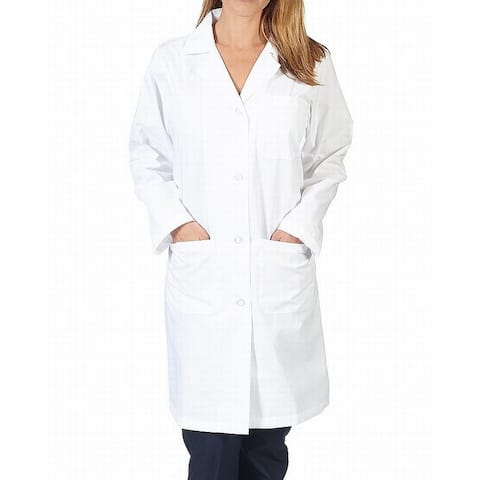 Natural Uniforms White Womens Size Large L Three Pocket Lab Coat