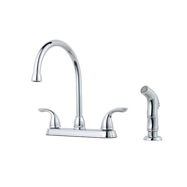 gooseneck kitchen faucet modern pfister g136500 pfirst series gooseneck kitchen faucet with sidespray na shop