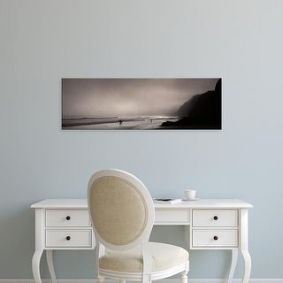 Easy Art Prints Panoramic Image 'Surfers on the beach, Point Reyes National Seashore, Marin, California' Canvas Art