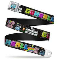 Gumball Face Close Up Black Full Color The Amazing World Of Gumball Dad Seatbelt Belt