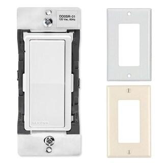 Leviton DD0SR-1Z 120VAC Decora Digital Smart Switch Remote With 2 Wallplates - White