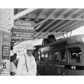 Shop Segregated Bus Stop Durham North Carolina 1940