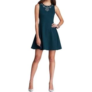 Aqua Womens Casual Dress Embellished Sleeveless - s