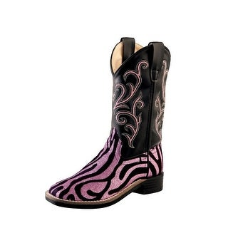Old West Cowboy Boots Girls Kids Zebra TPR Outsole Pink Black VB9129|https://ak1.ostkcdn.com/images/products/is/images/direct/26a7de9f9891518842436a4640cec6b0e74e8456/Old-West-Cowboy-Boots-Girls-Kids-Zebra-TPR-Outsole-Pink-Black-VB9129.jpg?_ostk_perf_=percv&impolicy=medium