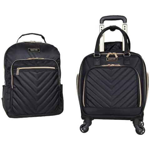 "Kenneth Cole Reaction Chelsea 2-Piece Set (17"" Underseater Carry-On & Matching Chevron Laptop Travel Backpack)"