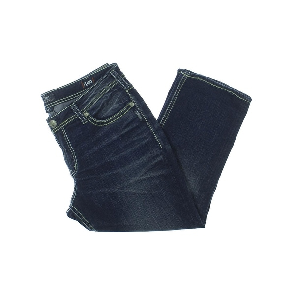 a2158f52720dd Silver Jeans Co. Womens Suki Capri Jeans Fluid Denim Whisker Wash - 16