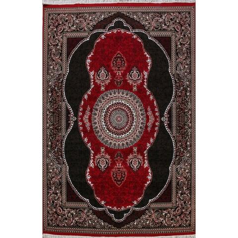 Floral Red Aubusson Oriental Turkish Area Rug Decorative Large Carpet - 9' 7'' X 13' 1''