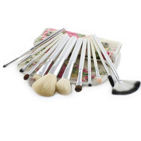 12 Pcs Make Up Brush Set With Design Case