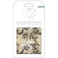 "Vintage Butterfly - Craft Consortium Decoupage Papers 13.75""X15.75"" 3/Pkg"