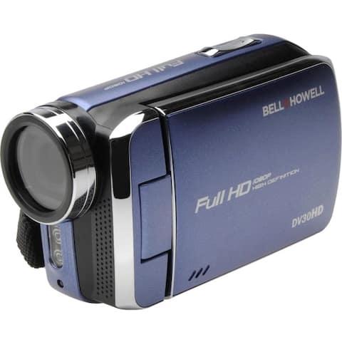 Bell+howell dv30hd-bl 20.0-megapixel 1080p dv30hd fun flix slim camcorder (blue)