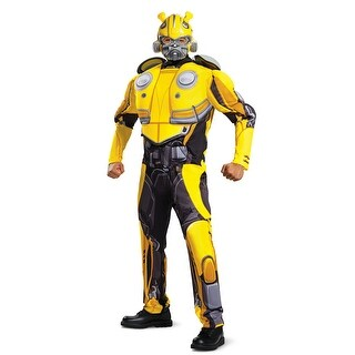 Mens Transformers Bumblebee Movie Muscle Costume - standard - one size