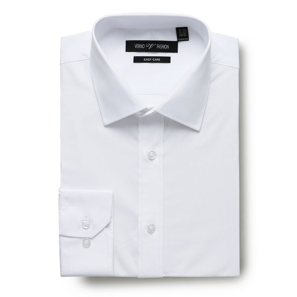 Men's Dress Shirts Easy Care Regular Fit 100% Cotton Solid Men Shirt. Opens flyout.