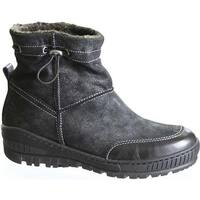 OTBT Women's Fanfare Snow Boot Black Leather