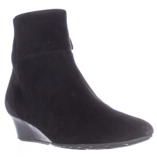 Cole Haan Tali Luxe Low Wedge Ankle Booties - Black