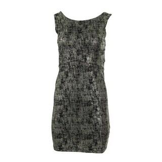 Alythea Womens Metallic Open Back Clubwear Dress