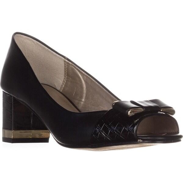 KS35 Rachel Peep-Toe Heels, Black - 8.5 us